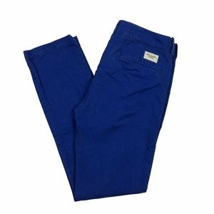 Abercrombie Fitch Mens Blue Slim Fit Chino Pants C